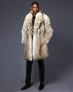 Mens Fur, Furs, Fur Trim, Dark Skin, Fur Coat, Long Hair Styles, Clothing, How To Wear, Jackets