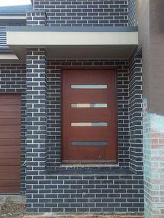 PGH Espresso Brown Brick, Brick Design, Block Wall, Exterior House Colors, Facade House, Facades, New Construction, Bricks, Hamilton