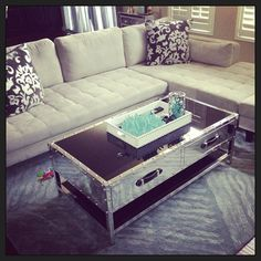 """Loving our new coffee table from #ZGallerie!"""