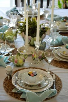 Spring or Easter Tablescape idea