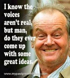 voices in my head funny quotes quote lol funny quote funny quotes humor Ain't that the truth, hey who said that? Badass Quotes, Funny Quotes, Weird Quotes, Laugh Quotes, Witty Quotes, Film Quotes, Funny Shit, The Funny, Funny Stuff