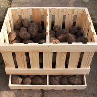 Vegetable root cellar storage bin, I think I could make one of these....