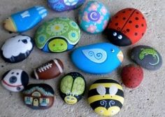 simple canvas paintings for beginners   Simple Canvas Painting Ideas   ideas forkids – easy rock painting ...