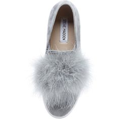 Steve Madden Women's Emily Flats (2.036.375 VND) ❤ liked on Polyvore featuring shoes, sneakers, slip on shoes, platform shoes, slip-on shoes, platform slip on sneakers and feather shoes