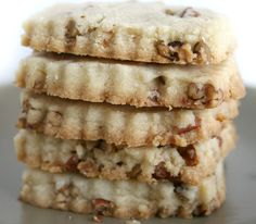 pecan shortbread ( I LOVE these cookies, shortbread is annoying to make, but this recipe is pretty simple and taste yummy-Shauna)