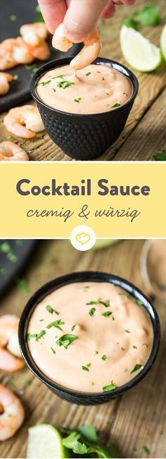For shrimp and grilled: spicy cocktail sauce- Für Garnelen und Gegrilltes: Spicy Cocktailsauce With this homemade cocktail sauce, grilled shrimp bounce with joy. And your guests will not be able to keep anything on their chairs! Sauce Cocktail, Homemade Cocktail Sauce, Cocktail Recipes, Barbecue Sauce Recipes, Grilling Recipes, Snack Recipes, Pork Barbecue, Bbq Ribs, Law Carb