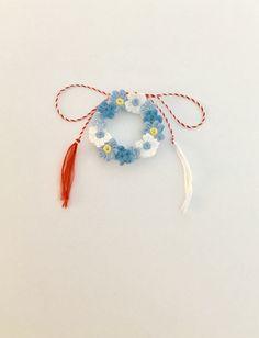 #martisoare #brosa #crochetflowers #blueflowers