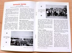 """""""Continental Journey"""", an article by Aston's Dr Michael Jespon on the Dept of Pharmacy's trip to Europe to see, amongst other things, the Pharmaceutical Institute of the Technische Hochschule in Zurich. Pharmacy Digest, Nov Click """"Image"""" to enlarge. Aston University, Zurich, Pharmacy, Journey, Europe, History, Image, Apothecary, History Books"""