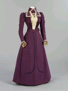 19th century wedding dresses   Wedding dress 1899   19th Century fashion