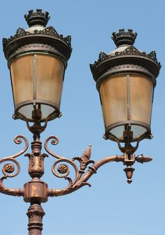 Paris: Lamp posts and Street Lights ~spirals everywhere