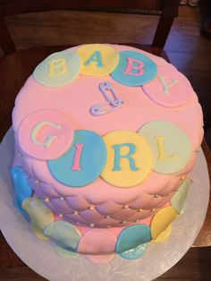 Baby shower cake for a teacher at school.