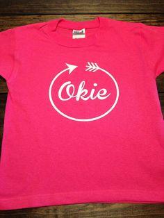 OKIE T-Shirt Proud Oklahoma T-Shirt Arrow Home Shirt by MissyLuLus