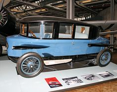 "The breakthrough aerodynamic passenger car was the German Rumpler ""Tropfenwagen"" (teardrop car) of 1921. Unlike the impractical and heavy Castagna Alfa, the Rumpler was as dramatically different (and influential) for its completely integrated and original design and engineering. It had a mid-engined W6 engine, and four wheel independent suspension using swing axles which Rumpler patented."