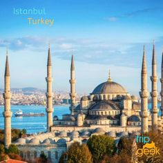 The Blue Mosque in Sultanahmet district of Istanbul. There's more to see in Istanbul than this amazing mosque. Kusadasi, Antalya, Turkey Tour Packages, Sultan Ahmed Mosque, Blue Mosque, Pamukkale, Hagia Sophia, Istanbul Turkey, Amazing Destinations