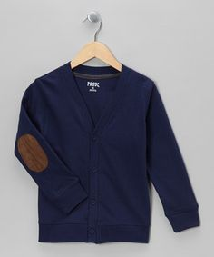 A classic cardigan silhouette gets a seriously stylish boost from a pair of collegiate-inspired elbow patches on this cozy layer. Little academics will love its soft, all-cotton construction so much they'll want to wear it every day!