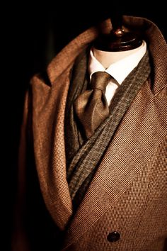 Chocolate brown man's wear masculine elegance