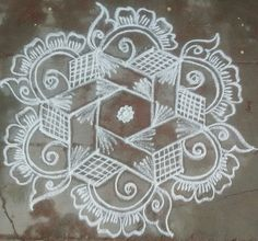 Small Rangoli Design, Beautiful Rangoli Designs, Kolam Designs, Indian Rangoli, Kolam Rangoli, Rangoli Patterns, Dancing Dolls, Simple Rangoli, Quilting Designs