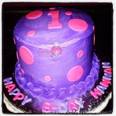 A lovely example of a 1st birthday smashcake for young Miss Hannah! This purple pink buttercream fondant beauty might not make it for long! But, then again, they may just decide to eat it outright. The cakes are simply that yummy! We hope it provides you with years of memories to come. We're so happy to be a part of your celebration! #bakery #cupcakes #cakes #fondant #buttercream #oceansprings #indulgegourmetcupcakes