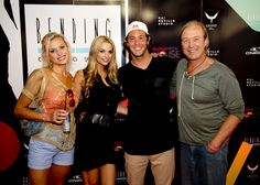 Jordy and wife Lyndall Jarvis with South African rugby legend Rob Louw and his daughter and model Roxy Louw.