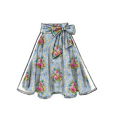 Flirty skirts sewing pattern from McCall's. M7197, Misses' Skirts