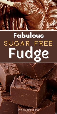 Sugar Free Fudge, Sugar Free Deserts, Sugar Free Baking, Sugar Free Sweets, Sugar Free Candy, Sugar Free Recipes, Sugar Free Chocolate Cake, Easy Chocolate Fudge, Sugar Free Brownies