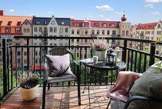 impossibly cute swedish balconies.