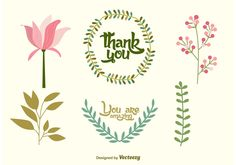 Wedding Doodle vector decorations with a hand drawn style.