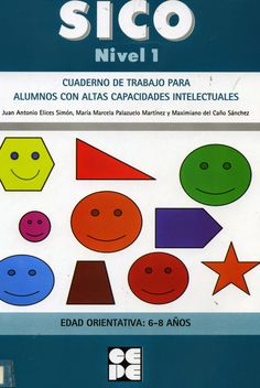 Bibliocreena: SICO. Nivel 1. Cuaderno de trabajo para alumnos con altas capacidades intelectuales. 6-8-años Chart, Ideas, Books, Notebooks, Thoughts