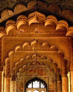 mughal, delhi, india. by qila mubarak