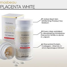 Mosbeau Placenta White Advanced Supplement for Skin Whitening 2015 Japan Patented Twice As Effective As Glutathione 120 Tablets *** Check out this great product.