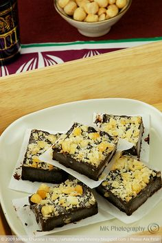 Chocolate Fudge Burfi (Indian dessert) ... another interesting addition to the menu?  #dessert. Best Indian Food . visit with us enjoy indian food