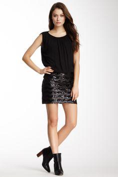 Ella Moss Zigzag Sequin Dress