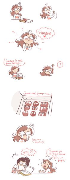 Les chocolats ! Tumblr Image, Cute Comics, Amazing Drawings, Amazing Grace, Romance, Tumblr Posts, Graphic Design Illustration, Just For Laughs, Girl Humor