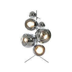 Tom Dixon Mirror Ball Floor Lamp ($775) ❤ liked on Polyvore featuring home, lighting, floor lamps, sphere light, tom dixon lighting, cord lamp, orb light and sphere lighting