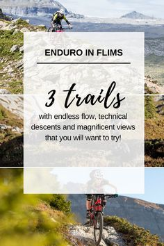 Three Enduro trails in Flims, Switzerland with endless flow, technical descents and magnificent views! Mountain Biking, Switzerland, Trail, Tours, Explore, Adventure, Flims, Destinations, Viajes