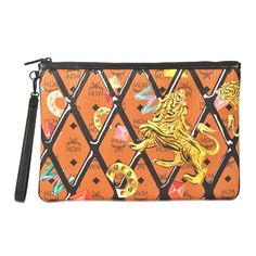 MCM Large Zipped Pouch With Wristlet. #mcm #all
