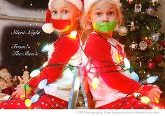 Christmas Family Photo Ideas | Heart Faces Funny Christmas Card Photo Ideas