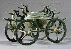 Birds on a bronze cult chariot from the Hallstatt Culture.