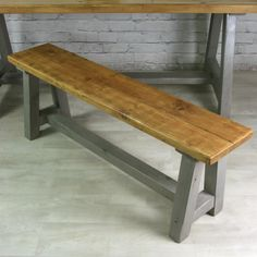 Reclaimed A-frame rustic bench (grey) - Mustard Vintage