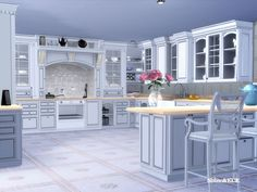 Elegant Kitchen Furniture inspired by Clive Christian - also in a rustical and grunge Version  Found in TSR Category 'Sims 4 Kitchen Sets'