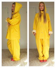 Yellow rain suit