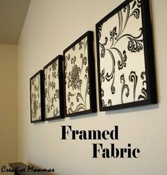 Framed Fabric Wall Decor.