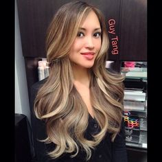 Ash blonde ombre on Asian hair. No orange, no stripes, no lines, just beautiful color by Guy | Yelp