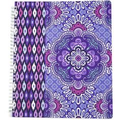 Vera Bradley Notebook with Pocket in Lilac Tapestry ($14) ❤ liked on Polyvore featuring home, home decor, stationery and lilac tapestry