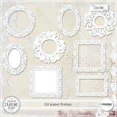 CAJOLINE-SCRAP: Freebie - CU paper frames