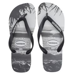 0c3e57700 HAVAIANAS Beach White Black    Flip flops with print (3570 RSD) ❤ liked