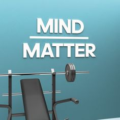 Mind Matter – 3D Gym Decor Gym Decor, Office Decor, Wall Art Decor, Indoor Gym, Malm, Home Signs, Wall Signs, Gym Motivation, Wall Decals