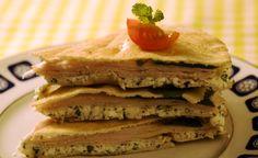 Sugestão de lanche: sanduíche integral com ricota e peito de peru
