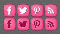 Free girly social media icons by Designbolts