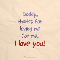Nothing like a Daddy's love...